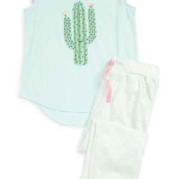 Tucker + Tate Print Two-Piece Pajamas (Toddler Girls, Little Girls & Big Girls) | Nordstrom