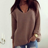 [Big Sale+Free Shipping] Women Casual Long Sleeve Knitwear Jumper Cardigan Coat Jacket Sweater