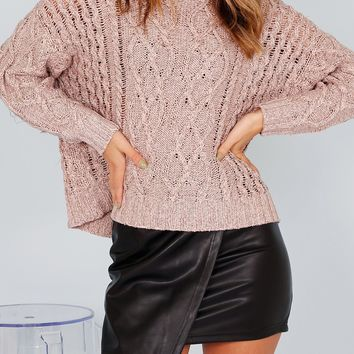 On Cloud Nine Sweater - Pink