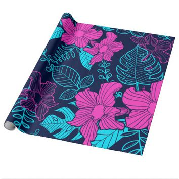 Flower Pattern Wrapping Paper