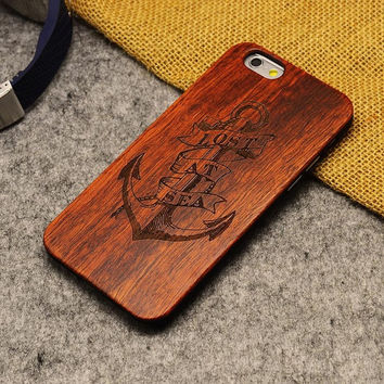 Lost At Sea Jerry Style Thin Bamboo Wood iPhone Case 5,5s,SE,6,6S,6+,7,7+