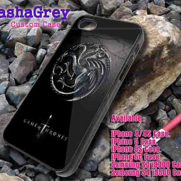 Cool Game of throne targaryen logo _ iphone case iphone 4/4s,5/5s,5c, Samsung S3,S4 Case Accesories Design By : sashagreystore