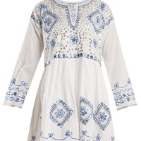 Sequin-embellished embroidered cotton dress | Juliet Dunn | MATCHESFASHION.COM UK