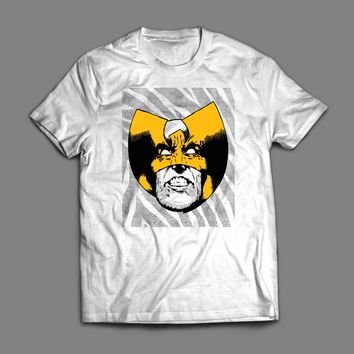 MARVEL'S X-MEN, WOLVERINE MASHUP WITH WU-TANG CLAN POP ART T-SHIRT