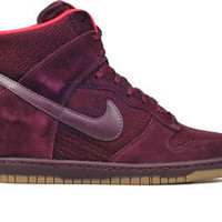 New Nike Women's Dunk Sky High Essential Wedge Shoes (644877-601)  Deep Burgundy
