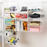 High Quality Plastic Foldable Storage Shelf Rack Wardrobe clothes rack with hooks Closet Storage Organizer, Home Bedroom Supples
