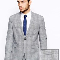 Selected Suit In Grey Pow Check at asos.com