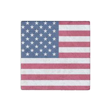 Patriotic, special stone magnet with Flag of USA