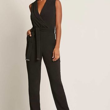 Dex Surplice Jumpsuit