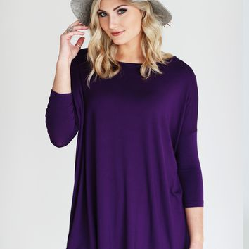Grape PIKO 3/4 Sleeve Tunic