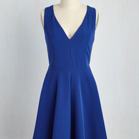 Flaunt to Bet? Dress in Sapphire | Mod Retro Vintage Dresses | ModCloth.com