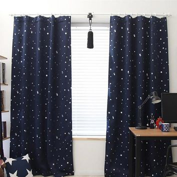 Starry sky  Curtain Tulle Window Treatment Voile Drape Valance 1 Panel Fabric