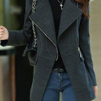 Dark Gray Fall Coat