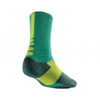 Nike HYPER Elite Crew Socks - Emerald Green/Volt | Lacrosse Unlimited