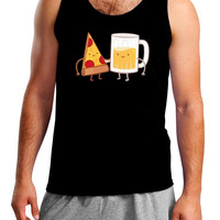 Pizza and Beer Best Friends Mens Tank Top
