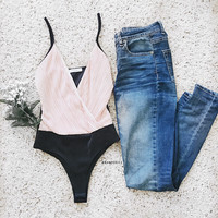 Dia Pink Pleated Bodysuit