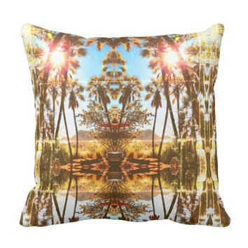 Tropical Vibes Palm Tree Landscape Cushion