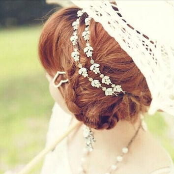 Crystal Flower Hair Jewelry Wedding Accessories