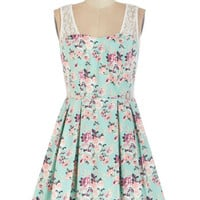 ModCloth Short Sleeveless A-line Fresh and Fab Dress