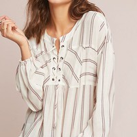 Splendid Striped Peasant Top