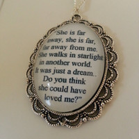 The Hobbit Kili and Tauriel Stars Quote Necklace