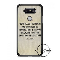 Harry Potter  Albus Dumbledore Quote Lg G6 Case | casescraft