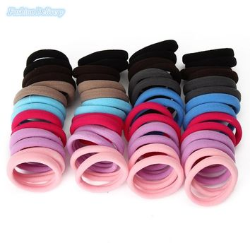 56pcs/lot Small Size Seamless Ponytail Holder Hair Band Elastic Cord Rubber Band Hair Rope Women Girls Hair Accessories