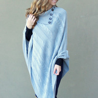 Cable Sweater Pancho