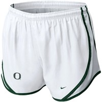 Nike Oregon Ducks Ladies Tempo Performance Shorts - White