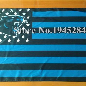 NFL Carolina Panthers US Stripe Flag New 3x5ft 90x150cm Polyester Flag Banner, free shipping