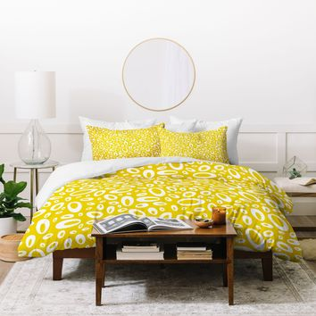 Heather Dutton Molecular Yellow Duvet Cover