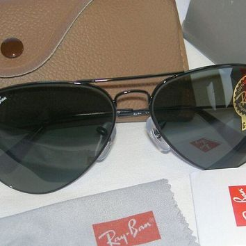 New Ray Ban Aviator Sunglasses Black Frame 62mm Large RB 3026 L2821 G-15 Glass