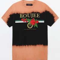 We Boujee Rose Bleach T-Shirt
