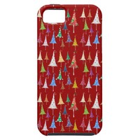 Whimsy Christmas Trees iPhone 5 Case from Zazzle.com