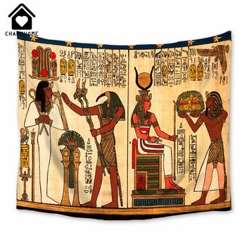 CHARMHOME Egpt Style Home Decorative Wall Tapestry Hanging Carpet Comfortable Sofa Cover Beautiful Picnic Mat Egyptian Pharaoh