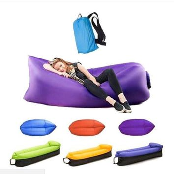Outdoor Beach lazy sleeping bag inflatable bed folding fast Inflatable sofa Air sofa