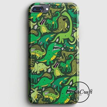 Cute Dinosaurs Pattern iPhone 7 Plus Case | casescraft