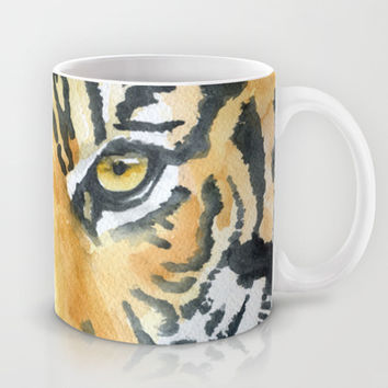 Tiger Watercolor Painting Mug by Susan Windsor