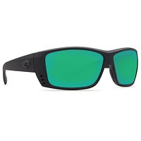 Cat Cay Blackout Sunglasses with Green Mirror 580P Lenses by Costa Del Mar