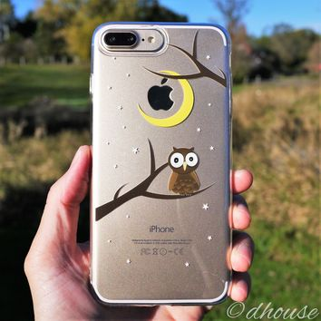 MADE IN JAPAN Soft Clear Case - Cute Owl for iPhone 7 Plus