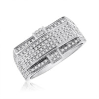 Gold 0.28 Cttw Diamond Micropave Mens Ring