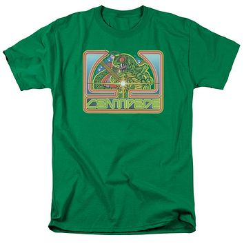 Atari Mens T-Shirt Centipede Retro Game Kelly Green Tee