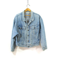 faded Vintage LEVIS denim jean jacket / red label