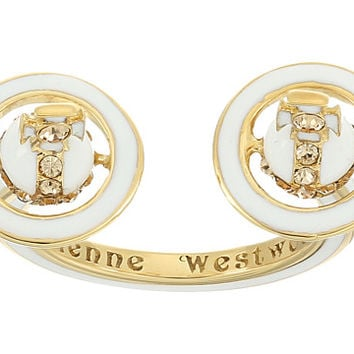 Vivienne Westwood Iona Ring White Enamel/Light - Zappos.com Free Shipping BOTH Ways