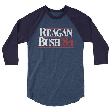 Reagan Bush 1984 3/4 Sleeve Baseball Raglan