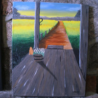 The View from my Front Porch - Original Painting