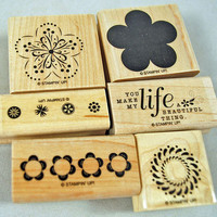 "Stampin Up  Stamp Set - Rubber Stamps  -  ""A Beautiful Thing"" - Mint Two Step Stampin' Set"