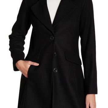 New With Tag - CeCe by Cynthia Steffe AVA Black Wool Blend Coat