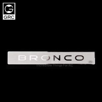 RC Car Sticker Tail Rear Side Stainless Steel Metal Logo For Traxxas TRX-4 T4 Ford Bronco Model Cars Upgrade Parts New Arrival