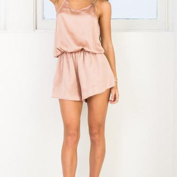 The similar satin Halter Slouchy pajamas Sexy Halter Jumpsuit romper one piece